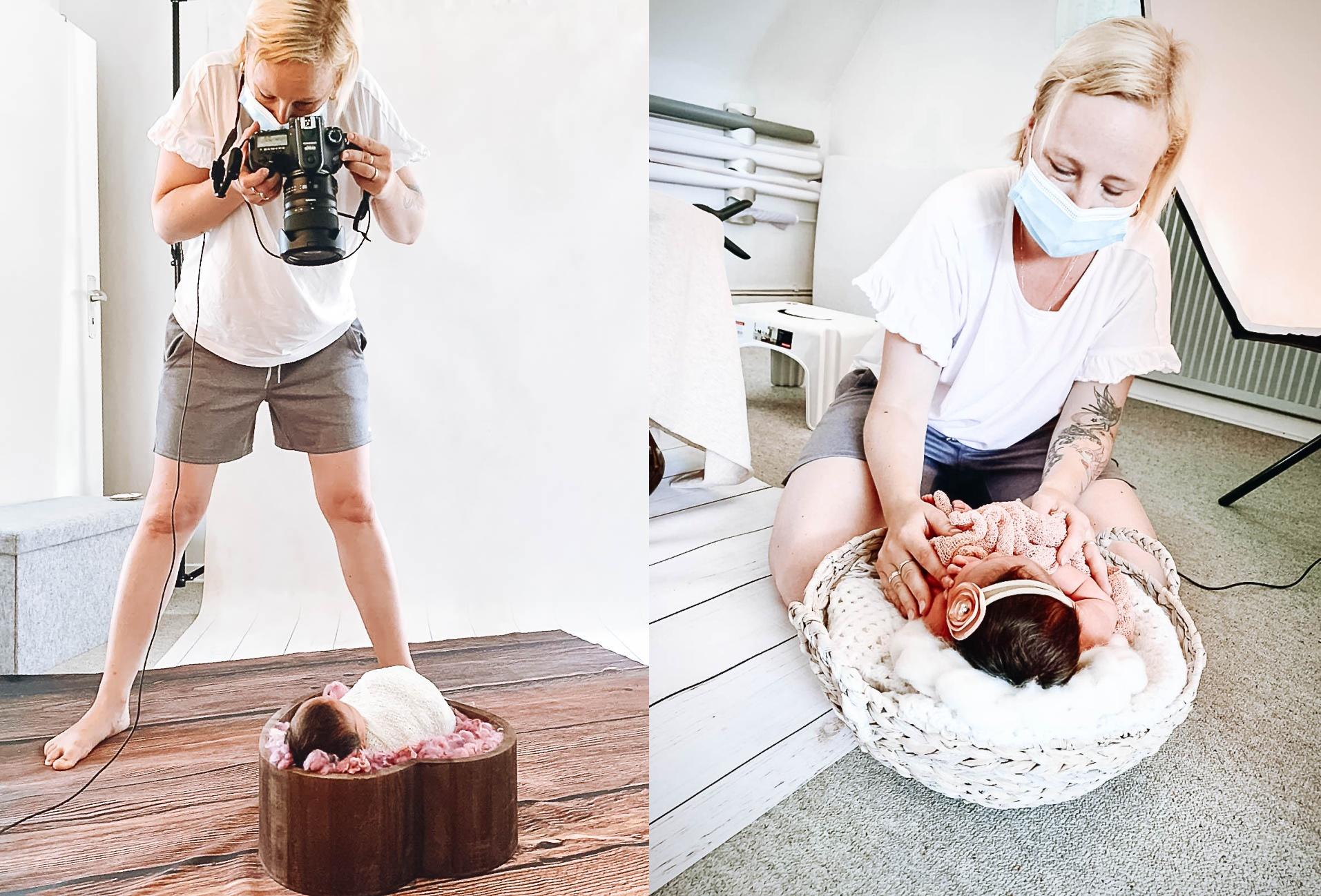 Die Fotografin mit Herz in Action